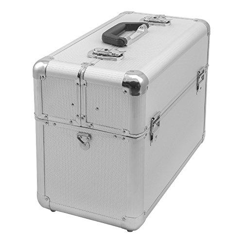 Alurahmenkoffer Werkzeugkoffer Etagenkoffer VARO + Fachbodeneinsätze abschließbar silber - 2