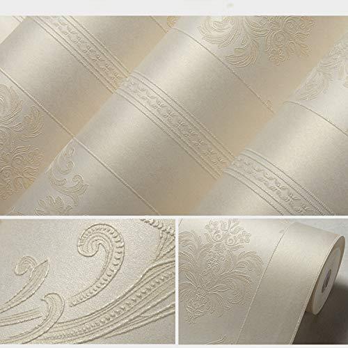 Europäische Vintage Luxus Tapeten Strukturierte Tapetenrolle Dekoration 0.53m10m = 5.3m2 Warmes Gelb B 53x1000cm