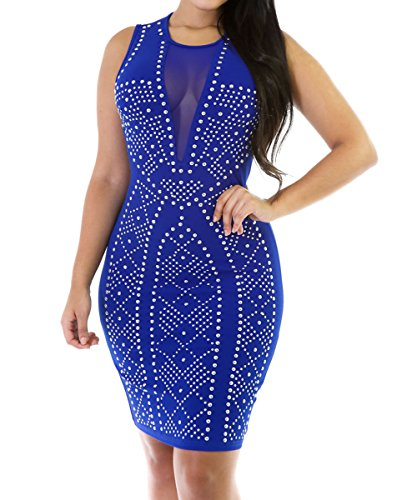Dissa S1122756 Deman Sexy Mini Kleid Blau