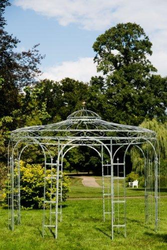 KUHEIGA Stabiler Gartenpavillon aus Metall, verzinkt 250cm, Pavillon