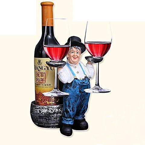 adornos de rack de vino personalizadas/Creativa salón titular de la botella de vino de estilo europeo/estante del vino de resina/copas de