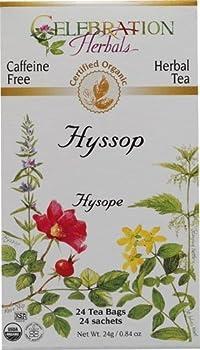 Celebration Herbals Organic Hyssop Tea Caffeine Free -- 24 Herbal Tea Bags