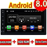 ROADYAKO Android 8.0 Head Unit für Toyota Fortuner 2016 Autoradio Stereo 2017 mit GPS-Navigation 3G WiFi Spiegelverbindung RDS FM AM Bluetooth AUX Media-Audio-Video