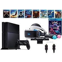 PlayStation VR Launch Bundle 9 Items:VR Launch Bundle,PS4 Call of Duty,7VR Game Disc Until Dawn,Rush of Blood,EVE:Valkyrie, Battlezone,Batman:Arkham VR,DriveClub,Eagle Flight,Co(Version US, Importée)