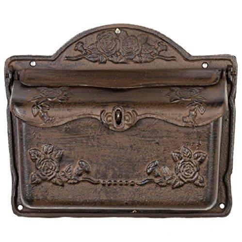 aubaho Briefkasten Wandbriefkasten Eisen Antikstil Landhausstil Shabby Iron letterbox