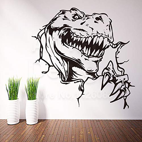Dekor billig Vinyl Dinosaur Wand Decal abnehmbare Wohndekoration bunte Tyrannosaurus Rex Sticker ()