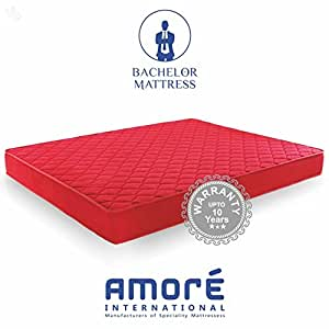 Amore International Bachelor 4-inch Queen Size Foam Mattress (Maroon, 78x60x4)