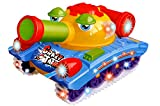 Jiada Crazy Tank Toy 360 Rotating with Bump n Go Action + 3D Lights and Music