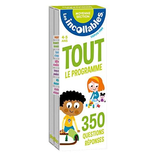 Les incollables - Tout le programme de la moyenne section - 4/5 ans: 350 questions réponses pour réviser en 2 éventails- Cahier de vacances par -
