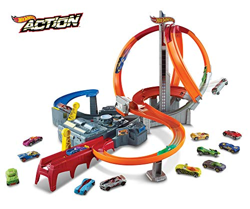 Hot Wheels- Spin Storm Track Set, CDL45, Multicolore