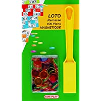 Kim'Play - Grands Classiques - Ramasse + 100 Pions Marque Loto Magnetiques
