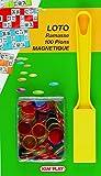 Un kit idéal pour vos parties de loto. Sachet comprenant un ramasse jeton et 100 jetons aimantés.