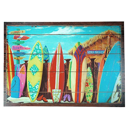 Just Contempo Seaside Beach Canvas Print Wall Art, Multicolour