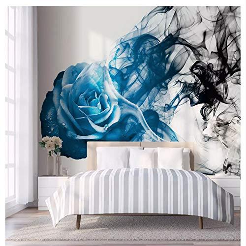 Meaosy carta da parati decorativa 3d della carta da parati classica decorativa di personalità fondo blu astratto della camera da letto della linea del fumo di rosa-450x300cm