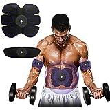 Jingfude Profesional ABS EMS Abdominal Muscular Tonificante Cinturón Hogar Entrenamiento Fitness Gear, Almohadillas Vibración para