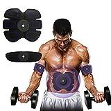 [nuova versione 2017] Professionale EMS muscoli addominali tonificante cintura di fitness a casa forma fisica, pastiglie di vibrazione per uomini e donne a tono, perdita di peso, trimmer, snello, shaper, forte