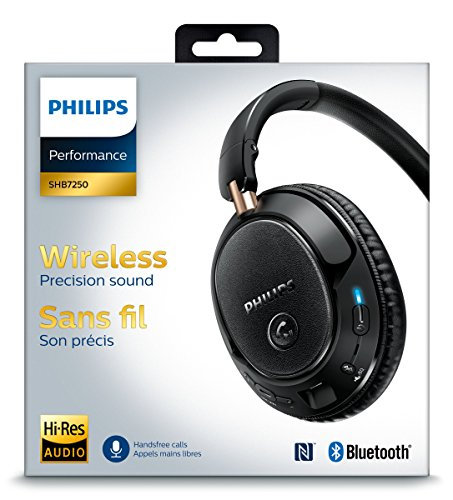 Philips SHB7250/00 - Auriculares de diadema cerrados con Bluetooth, negro