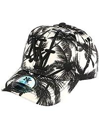 casquette baseball enfant noire et blanche Tropical 7 à 12 ans - Garçon