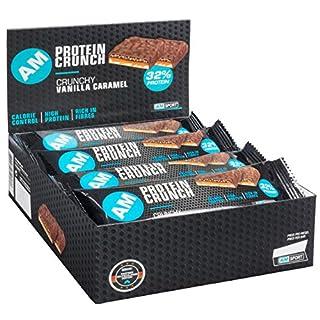 AMSPORT Protein Crunch 32% Bar Box 12x50g Vanille-Caramel