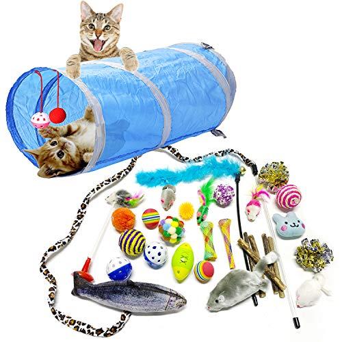 PietyPet Giocattoli per Gatti, Gatto Giocattoli Interattivi gioco per gattino kitten indoor, 31 pezzi