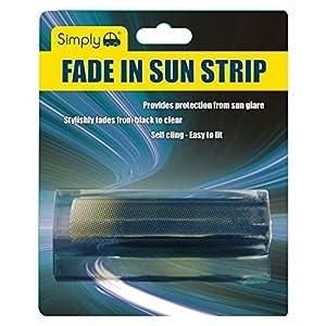 Simply fad02Blendstreifen, für Windschutzscheibe, blendfrei, schützt vor Sonne, leicht zu entfernen