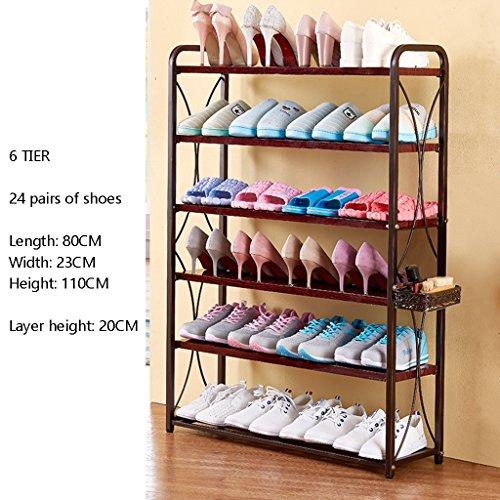 Schuhregal Über der Tür Weiß 6 Tier Metalltür Flur Enterway Leichte Lagerung Inhaber Für Stiefel (Farbe : 3)