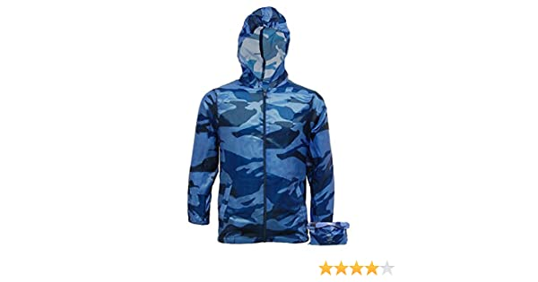 Kagoul Camouflage Shop Online Boys Lightweight Raincoat Camo Jacket Kagool Cagoule Hooded Cag in a Bag