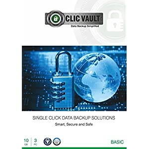 ClicVault Online Data Backup (Basic – 10 GB) – 3 PC, 1 Year (CD)