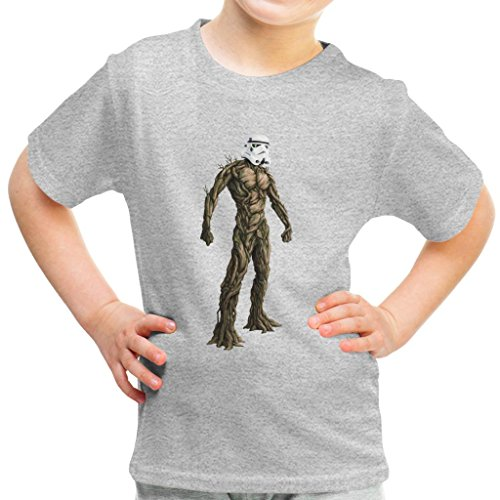 (Groot Guardians of The Galaxy Star Wars Stormtrooper Head Kid's T-Shirt)