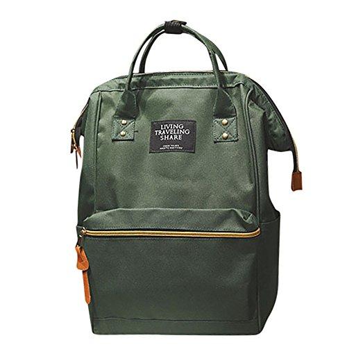f5922fc2c8291 URSING Unisex Einfarbig Rucksack Schulranzen Reiserucksack Backpack  Doppelte Umhängetasche Reißverschlusstasche Wickeltasche Wickelrucksack  Handtaschen ...