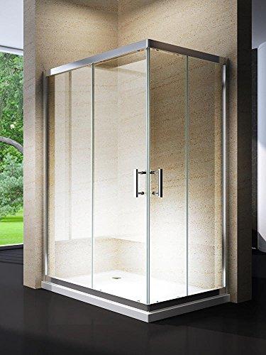 Yellowshop-Box cabine de douche rectangulaire pour salle de bain - dimensions : 70x 90 cm,70x 100 cm,70x 120 cm,80x 100 cm,80x 120 cm -verre trempé 6mm, transparent