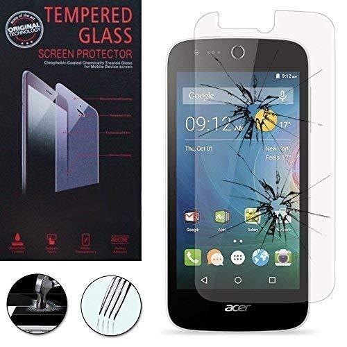 VCOMP Pack Packung Bildschirm-Schutzfolien Klar Übersichtlich für Acer Liquid Z320/Z330 - Eine Folie Hartglas