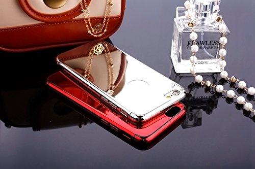 iPhone 6S Étui Rigide,iPhone 6 Coque Cristal Clair,JAWSEU Luxe Mode Placage Miroir Coque Housse Bling Brillant Sparkle Coque Mat Désign Ultra Slim Mince Crystal Miroir Hard Case Coquille de protection argent/hard