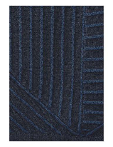 Cecil Stripe Pullover, Felpa Donna Blau (Deep Blue Melange 20157)