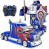 SSBH Transformers Stunt Car Truck Deformazione Optimus Prime RC giocattolo Trasformare Robot Velocità telecomando deriva Camion Robot giocattolo modello for bambini adulti Toddlers delle ragazze dei r
