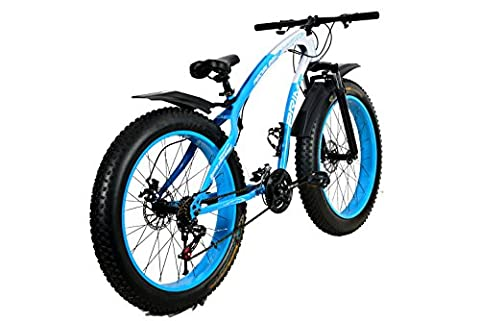 R Cycles 26T 21 Speed Fat Tyre Bike (Blue White)