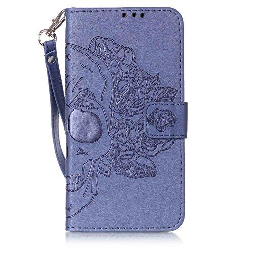 New Style gepresst Embossing Blumen Windchime Muster Retro Folio Flip Stehen Wallet Case mit Handschlaufe für Samsung Galaxy J510 ( Color : 14 , Size : Samsung Galaxy J510 ) 4