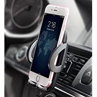 Support Téléphone Voiture Universel Quntis Support Téléphone Voiture Réglable pour iPhone X 8 8Plus 7 7 Plus 6S 6s Plus SE, Samsung Galaxy J3 J5 S7 S7edge S6 Edge A5 A3 GPS et les autres appareils