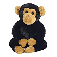 Aurora Mini Flopsies, Clyde The Chimp Soft Toy, 31710, 8in, Black and Brown, Gift Idea