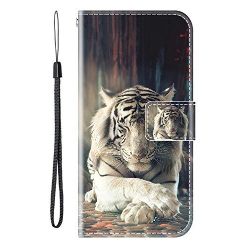 vingarshern Hülle für LEAGOO S8 Pro Handytasche Klappbares Magnetverschluss Lederhülle Flip Etui Standfunktion Schutzhülle LEAGOO S8 Pro Hülle Leder Brieftasche-(Tiger) MEHRWEG