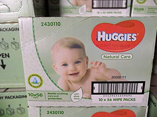 Huggies Pure Feuchte Baby Pflegetücher, 10er Pack (10x 56 Stück) (Verkauf Make-up Ganze)