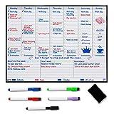 Magnetischer Wochenplaner Kühlschrank-Whiteboard - Wochenplaner - Familienplaner - Organisieren Sie Ihre Organisation, um Stress in Ihrem Leben zu reduzieren.
