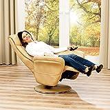 aktivshop Aufstehsessel Fernsehsessel Massagesessel mit elektrischer Aufstehhilfe, Wärmefunktion & Massage, Drehbar || Sanftes Aufstehen & Hinsetzen (Cappuccino) - 4