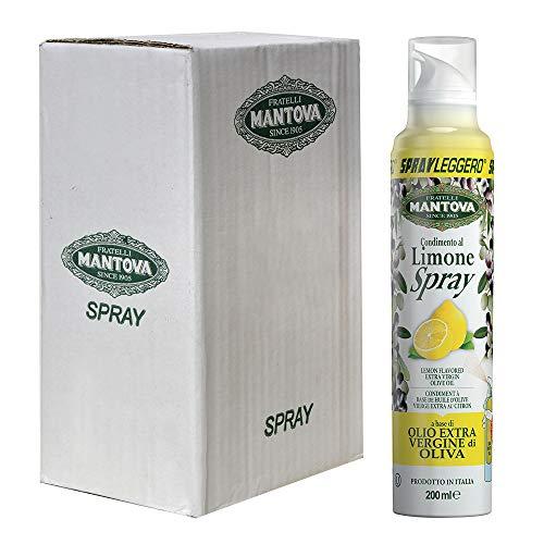 Olio extravergine di oliva, aromatizzato al limone (6 x 200 ml)-con lo spray risparmi fino al 90% di prodotto