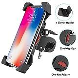 FYLINA Smartphone Handyhalterung Fahrrad,Verstellbarer Smartphone-Halter,- Universelle Halterung für iPhone 6s Plus/6 Plus/Samsung s7 Edge Andere bis zu 6.0 Zoll Smartphone
