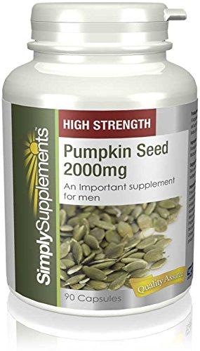 High Strength Pumpkin Seed 2000mg |Prostate Health | 180 Capsules in total