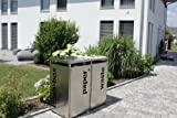 metz trashbox double Mülltonnenbox Aufbewahrungsschuppen aus Edelstahl
