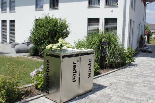 Metz Trashbox Double - Mülltonnenbox aus Edelstahl