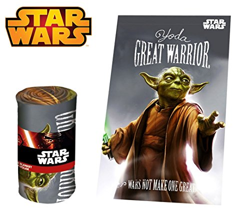 SW92243 Manta polar con motive YODA de Star Wars 100x150 cm