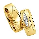 Mytrauring Gelbgold Ringe Gelbgold 585 Trauringe/ Eheringe / Partnerringe Modellnumber 49-81338 & 49-81339, Gr.: 46(14.6) - 76(24.2)